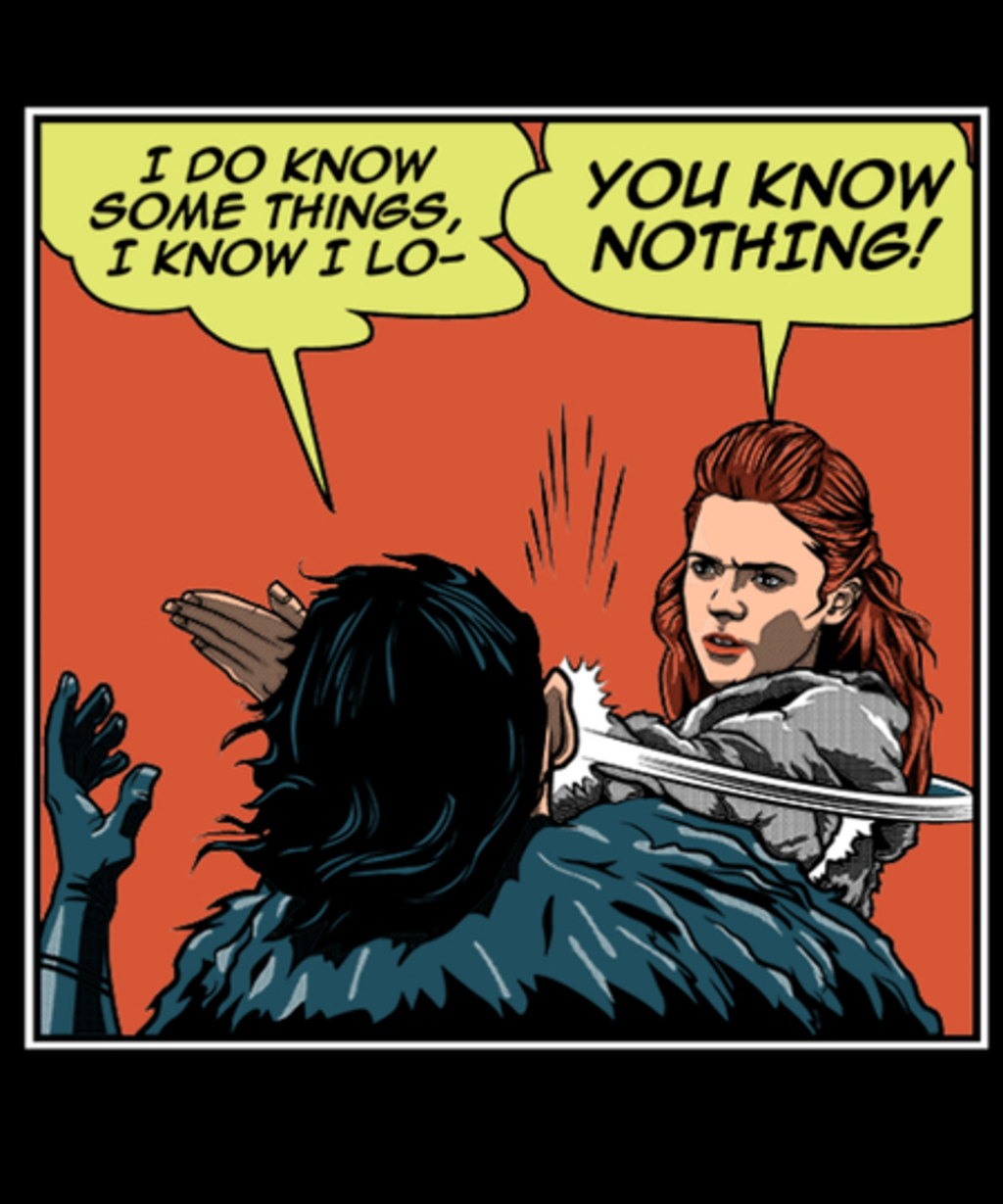 Qwertee: Know Nothing