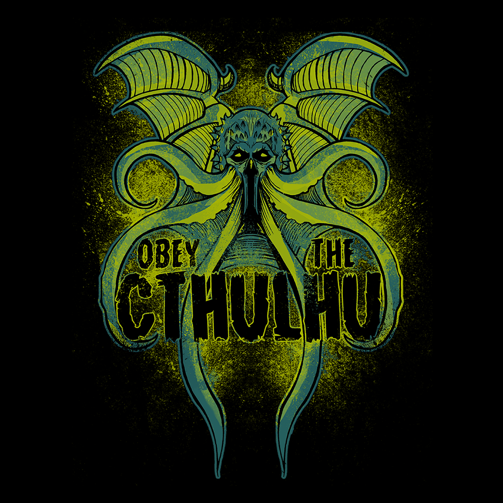 Pop-Up Tee: Obey The Cthulhu Neon