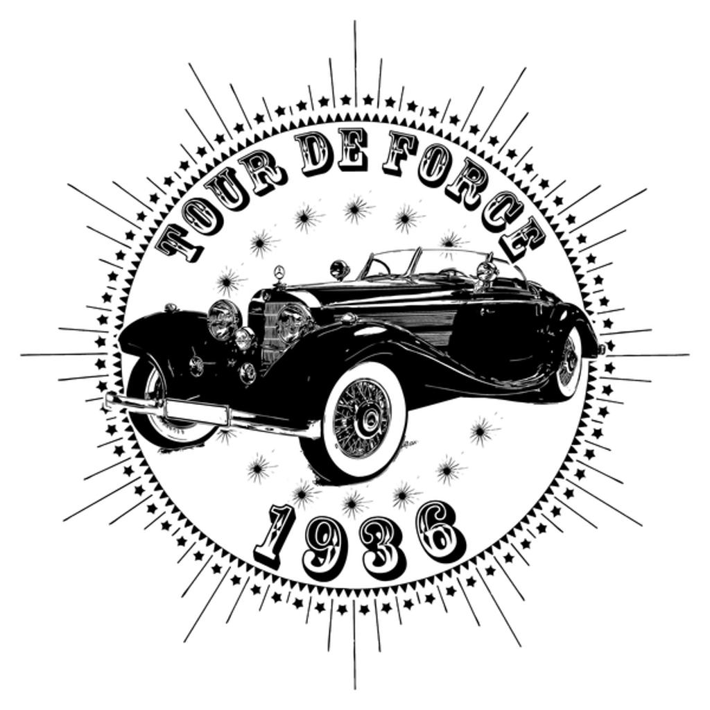 NeatoShop: Vintage Classic Car 1936 Tour De Force Merc