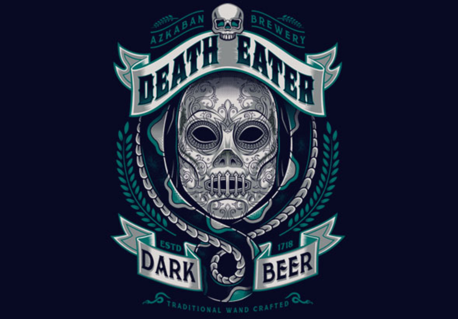 teeVillain: Deathly Dark Beer