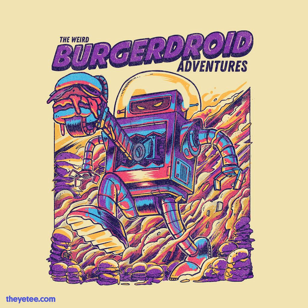 The Yetee: The Weird Burgerdroid Adventures