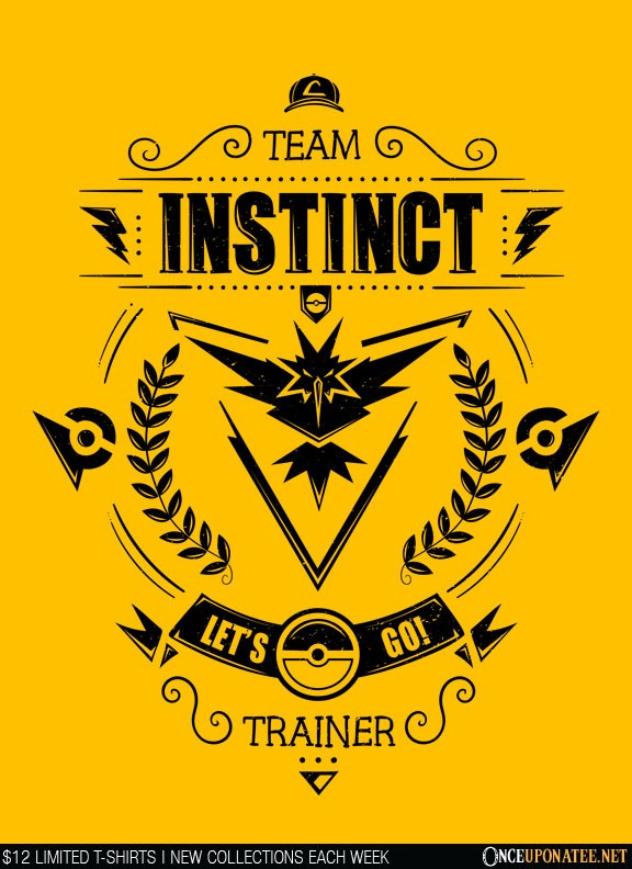 Once Upon a Tee: Team Instinct (Black)
