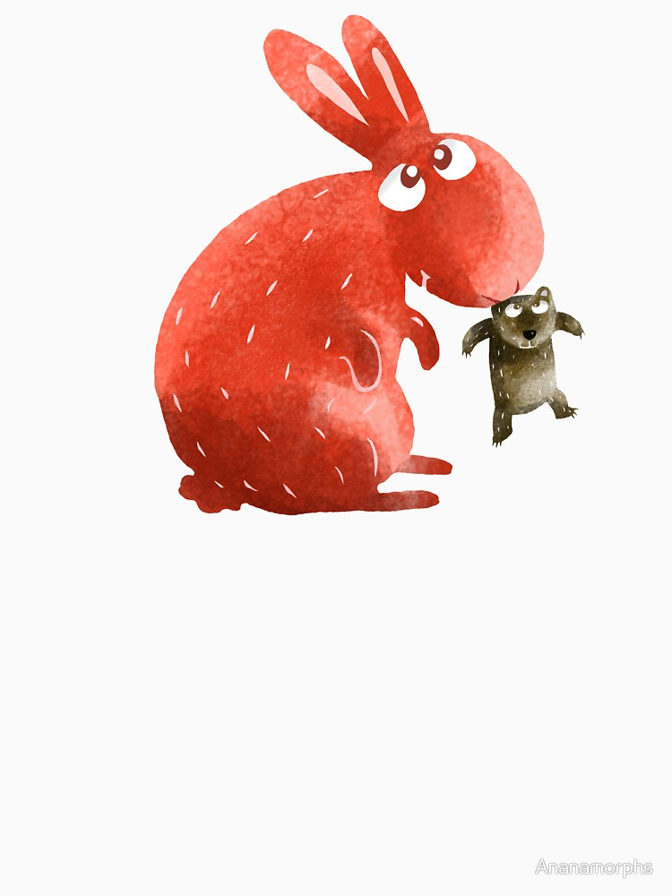 RedBubble: Red Rabbit Catches Bear