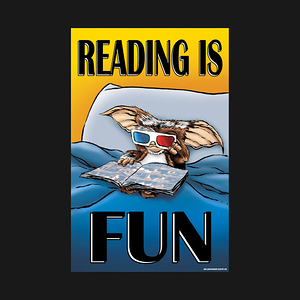 TeePublic: Gizmo Reading is Fun