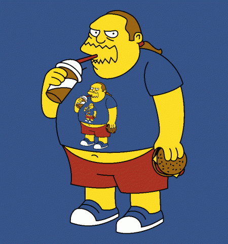 BustedTees: Fractal Comic Book Guy