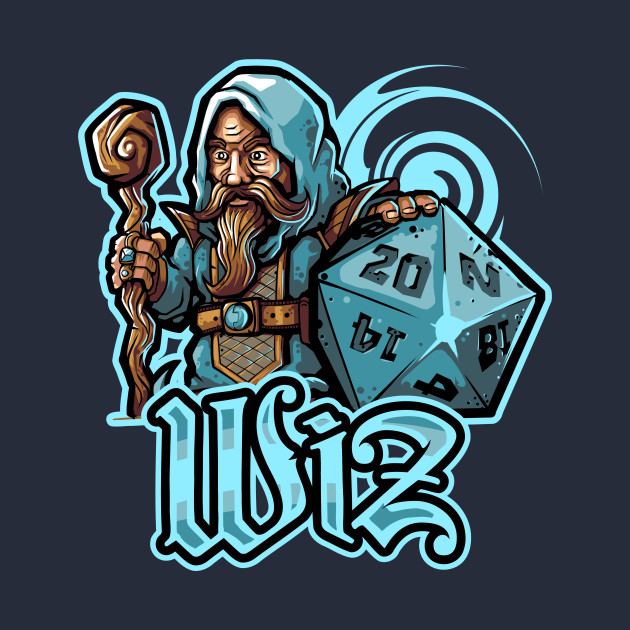 TeePublic: Mini RPG Wizard
