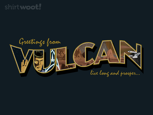 Woot!: Greetings from Vulcan - $8.00 + $5 standard shipping
