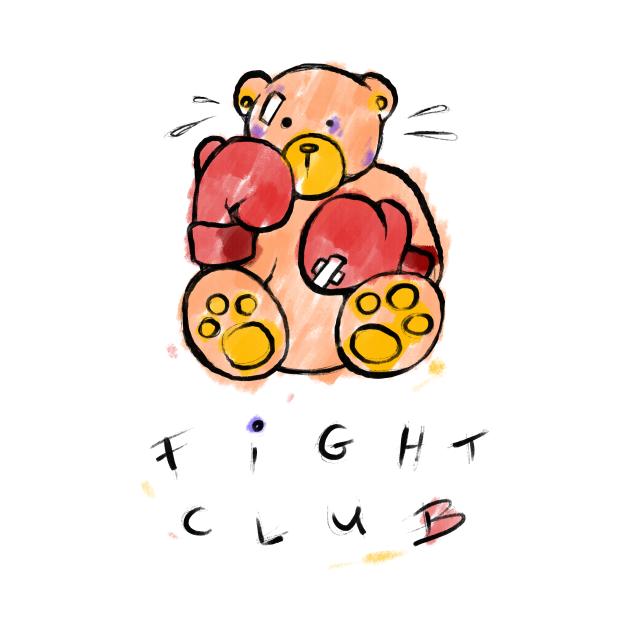 TeePublic: Max The Teddy Bear Fight Club