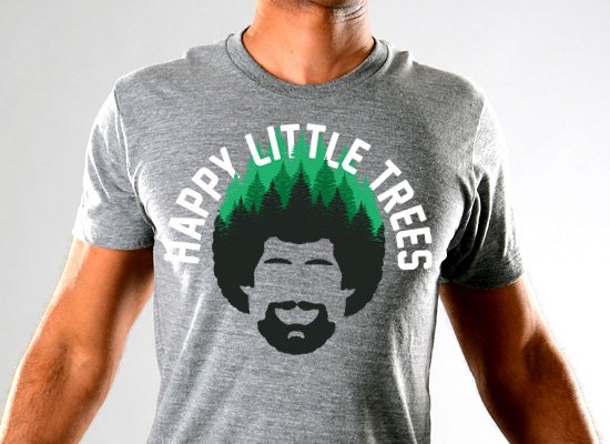 SnorgTees: Happy Little Trees Limited Edition Tri-Blend