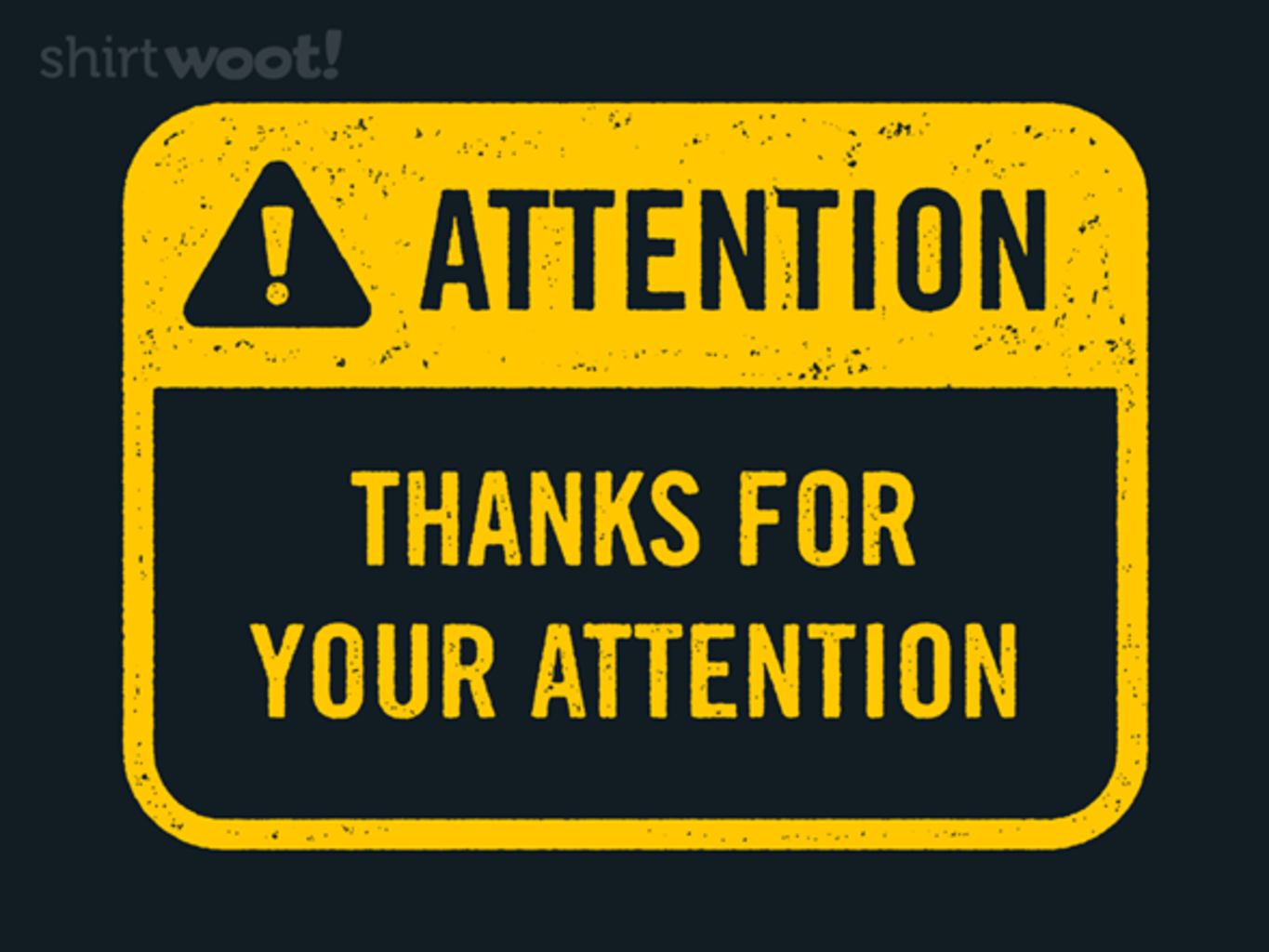 Woot!: Attention - $8.00 + $5 standard shipping