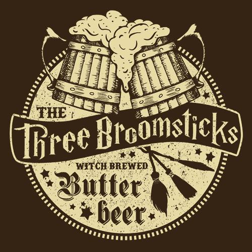 Textual Tees: The Three Broomsticks