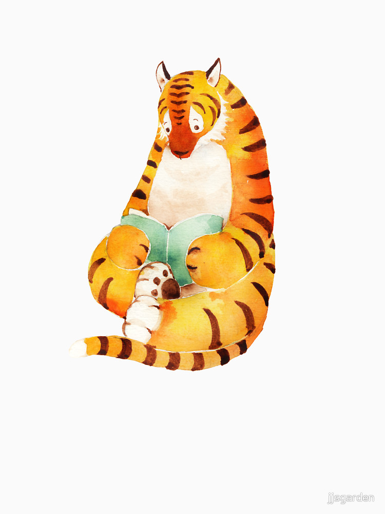 RedBubble: Reading Tiger