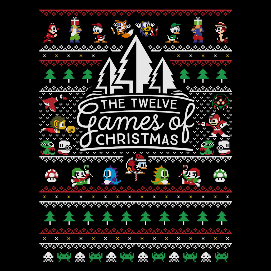 Pop-Up Tee: 12 Games of Christmas