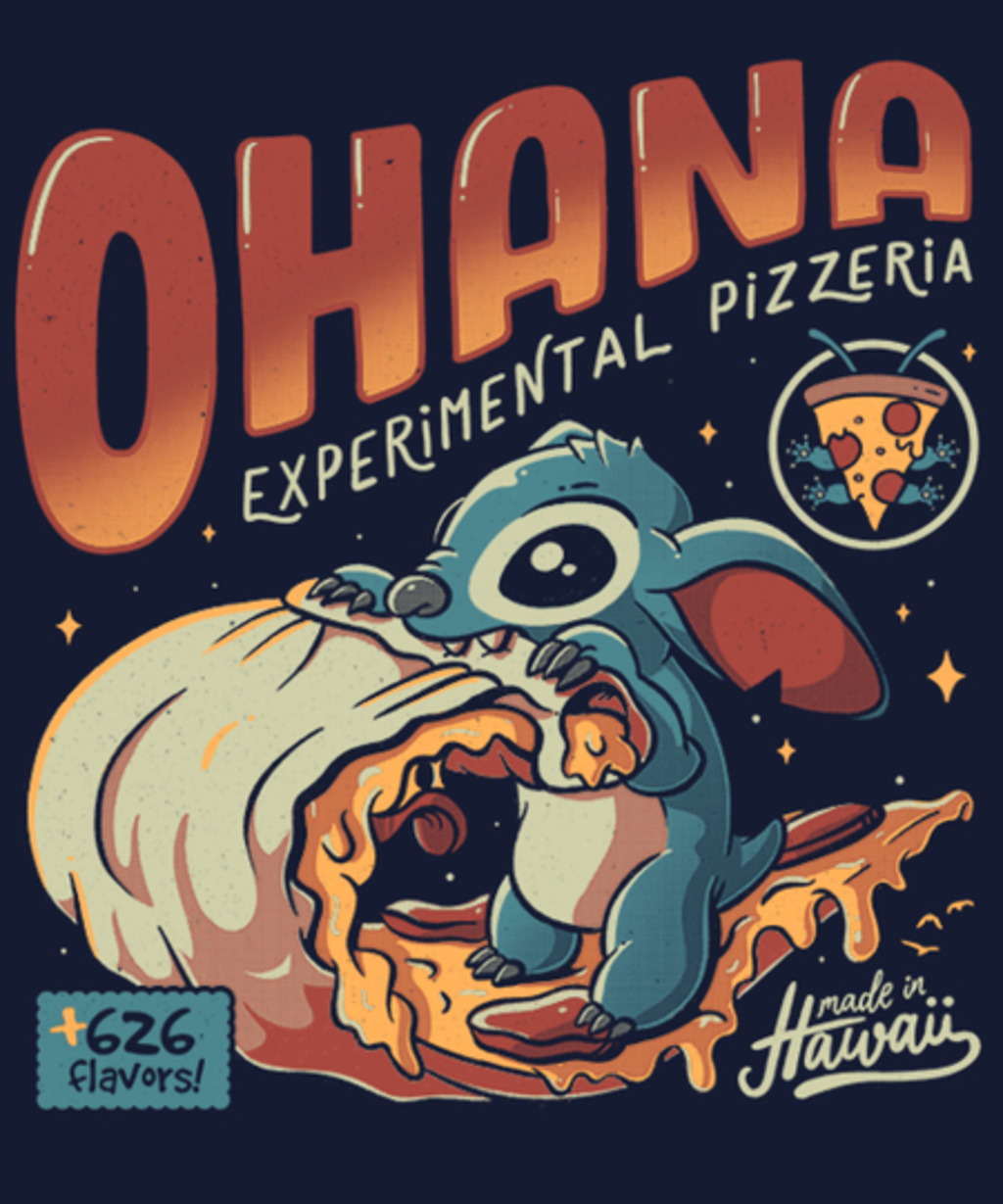 Qwertee: Ohana Pizzeria