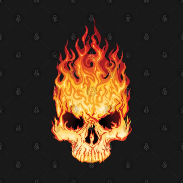 TeePublic: Fire skull