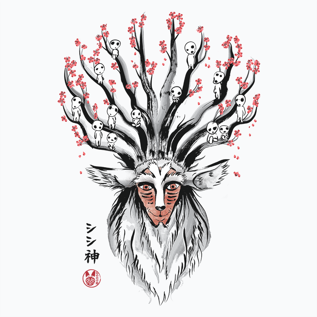 Pop-Up Tee: The Deer God Sumie