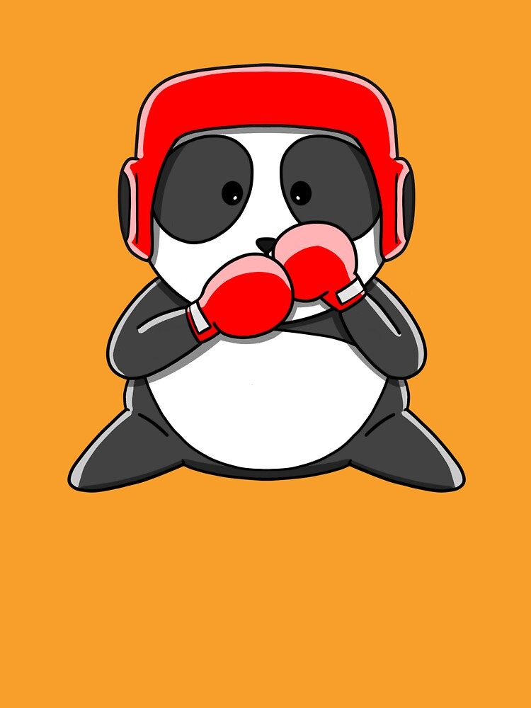 RedBubble: Cute Boxeur Panda with boxing gloves and helmet