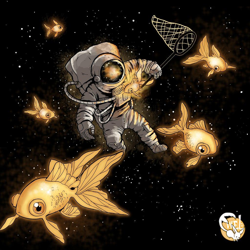 TeeTee: Golden fish in the space