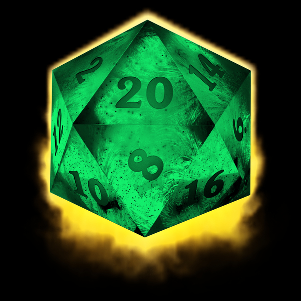 NeatoShop: Crystal d20 - green