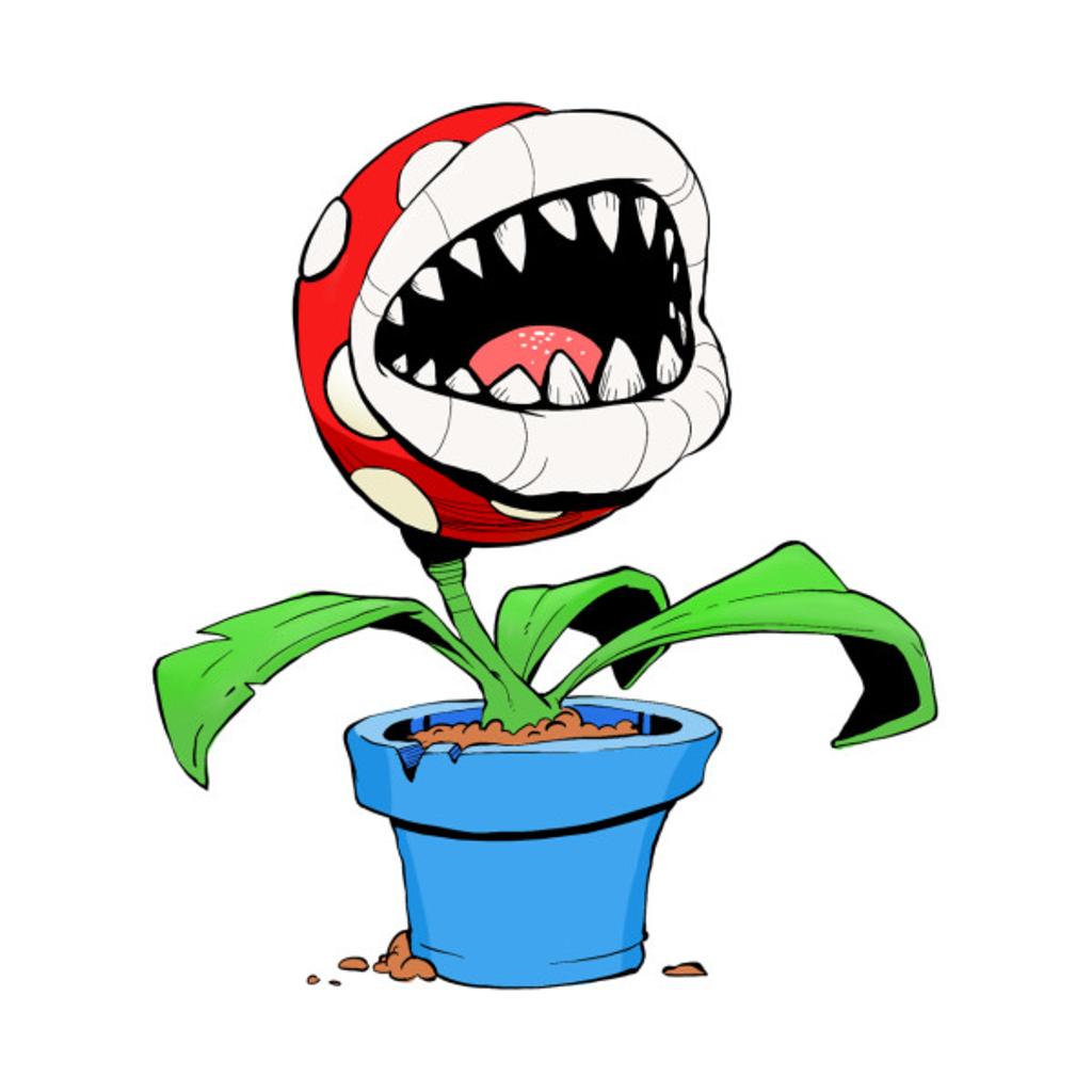 TeePublic: Piranha Plant