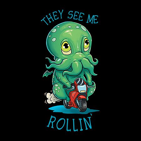 MeWicked: They See Me Rollin' - They Hatin' - Cthulhu Ridin' A Mini Motorbike V1