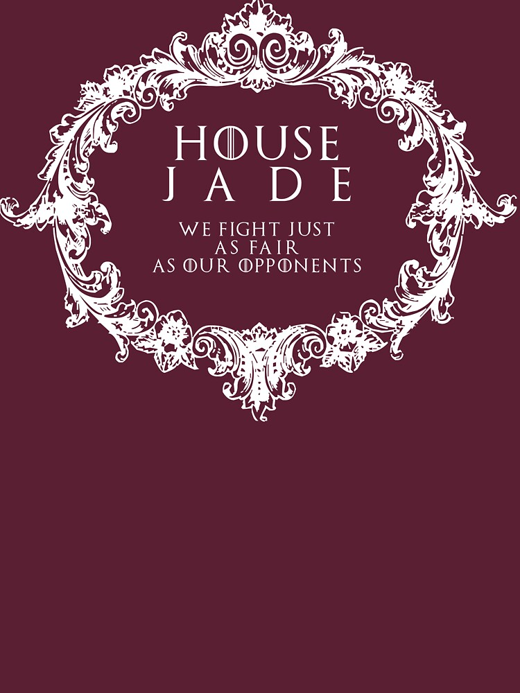 RedBubble: House Jade (white text)