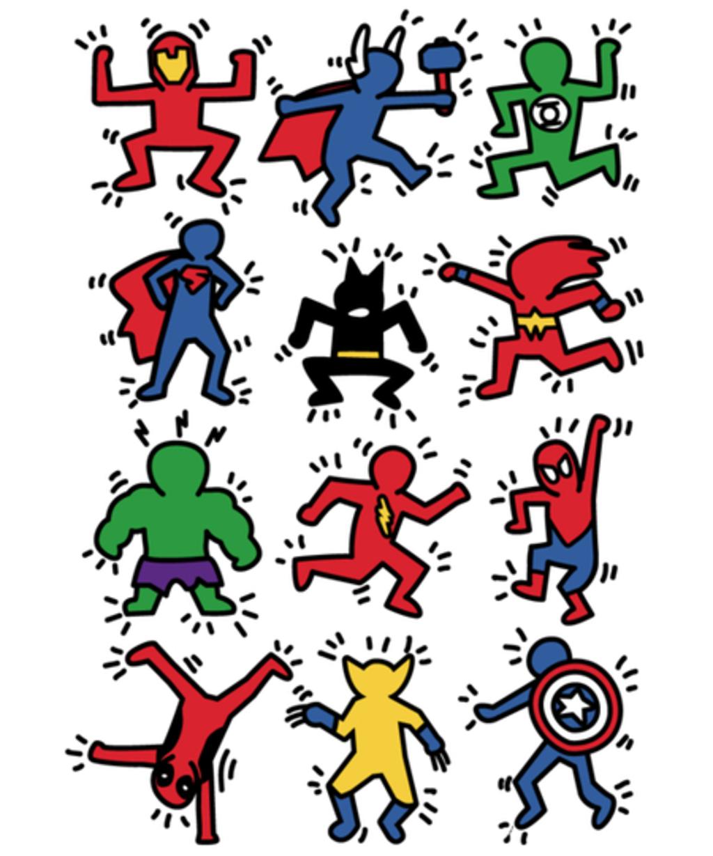 Qwertee: Heroes Pop Art