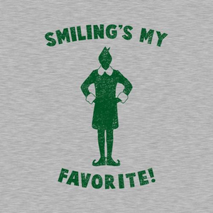 Five Finger Tees: Smiling's My Favorite T-Shirt
