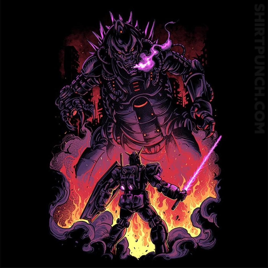 ShirtPunch: Gundam VS Mechagodzilla
