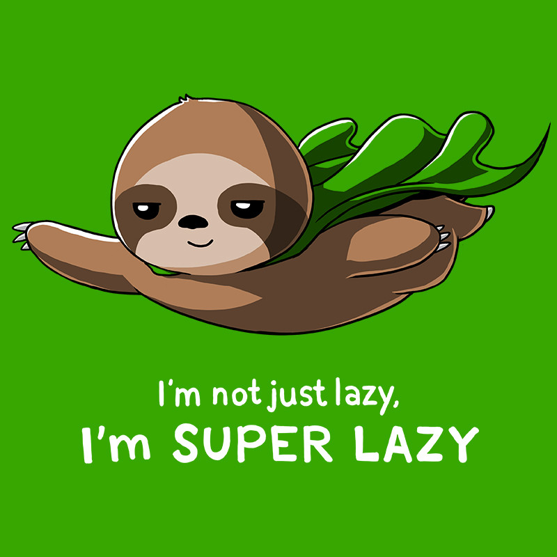 TeeTurtle: Super Lazy (Green)