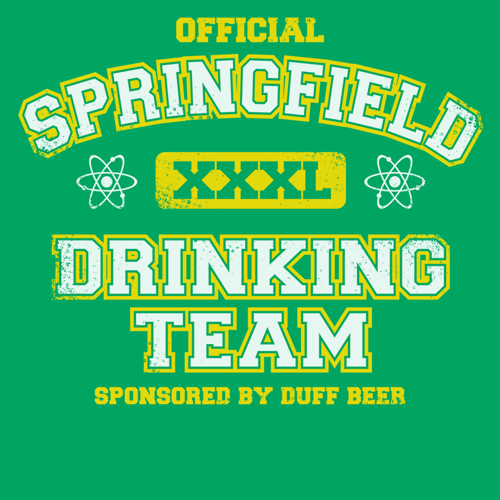 Pop-Up Tee: Springfield Drinking Team