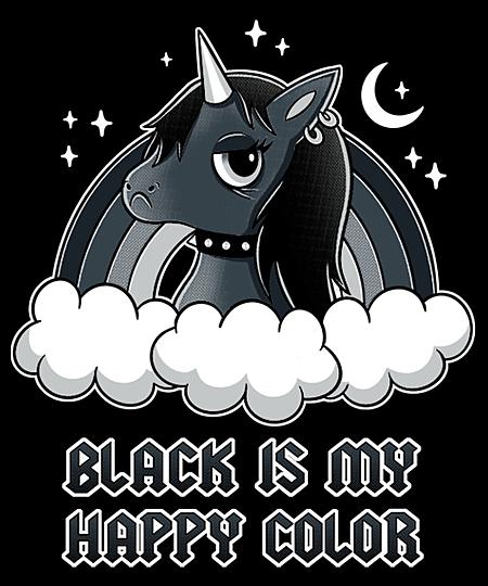 Qwertee: Black Unicorn