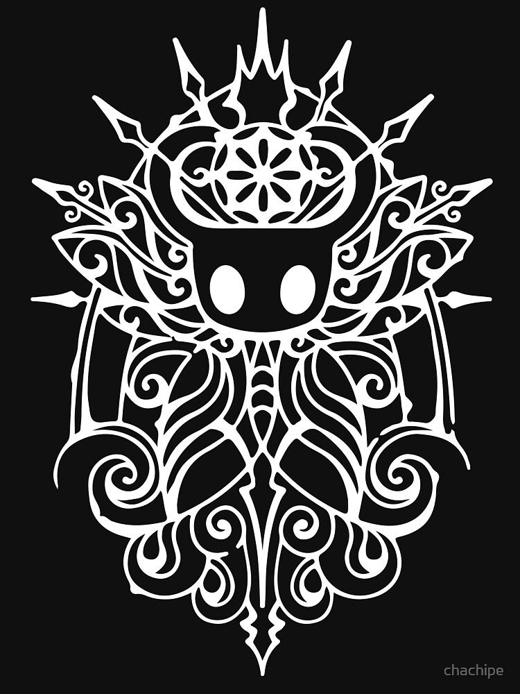 RedBubble: Hollow Knight Tribal White