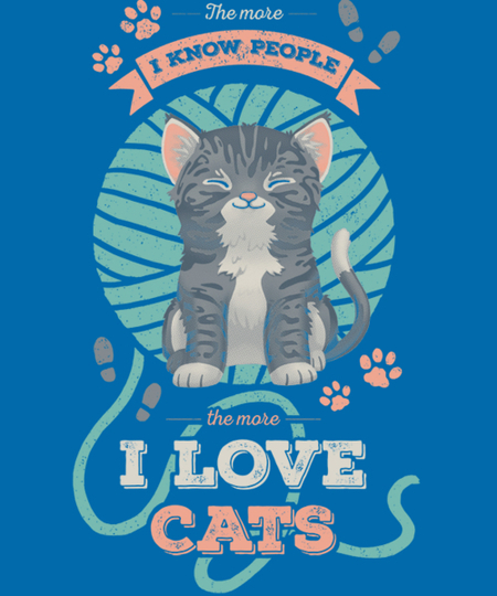 Qwertee: I love Cats!