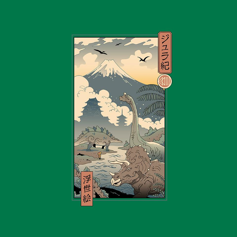TeeFury: Jurassic Ukiyo-e 2