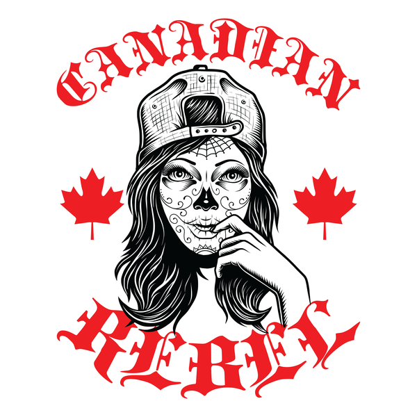 NeatoShop: Canadian Rebel Skull Girl - Canada - Tattoo