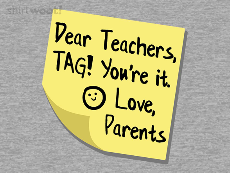 Woot!: Teacher Tag!