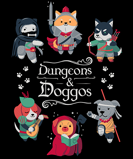 Qwertee: Dungeons & Doggos