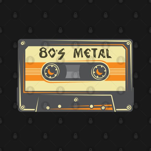 TeePublic: 80's Heavy Metal Retro Cassette