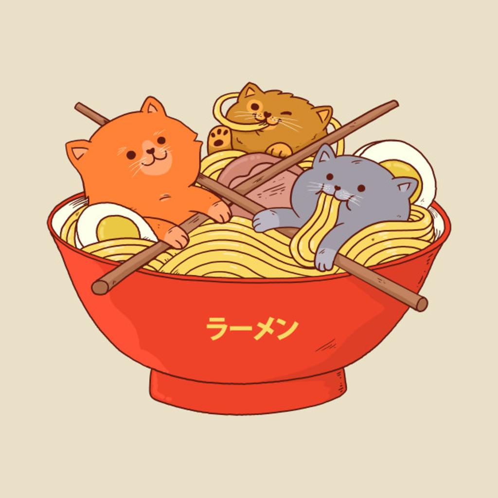 TeePublic: Ramen and cats