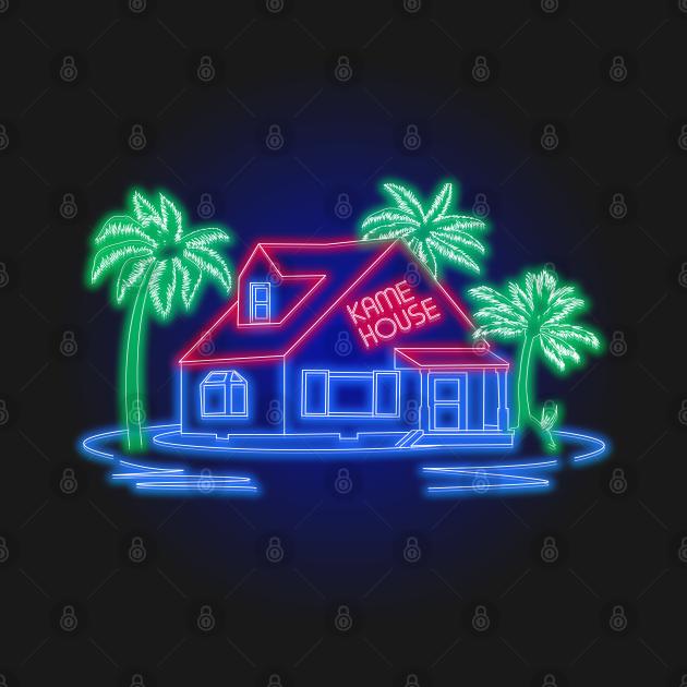 TeePublic: Kamehouse Neon