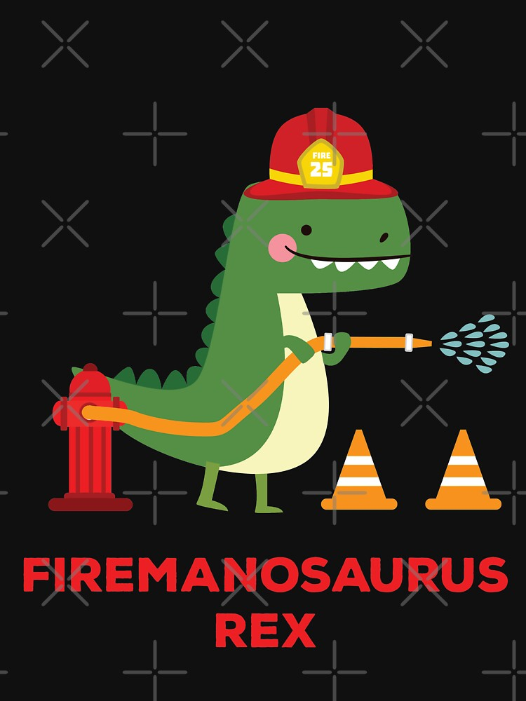 RedBubble: Firemanosaurus Rex - T-Rex Tyrannosaurus Rex Dinosaur