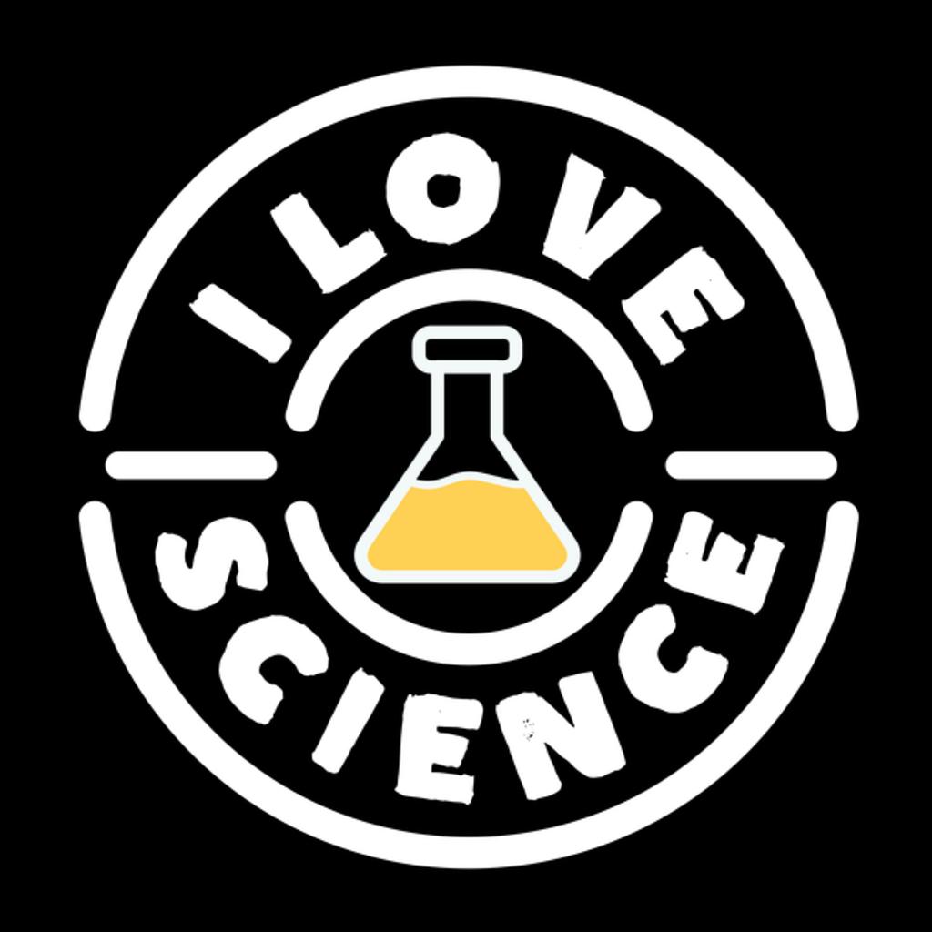 NeatoShop: Line Art I Love Science Retro Vintage