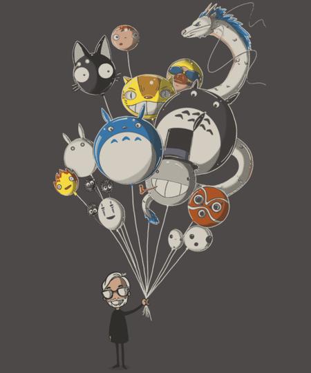 Qwertee: Miyazaki's Balloons