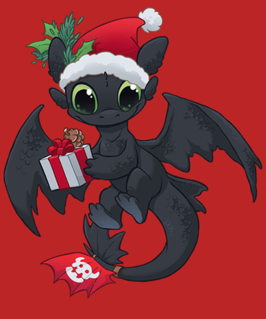 Qwertee: Christmas Dragon