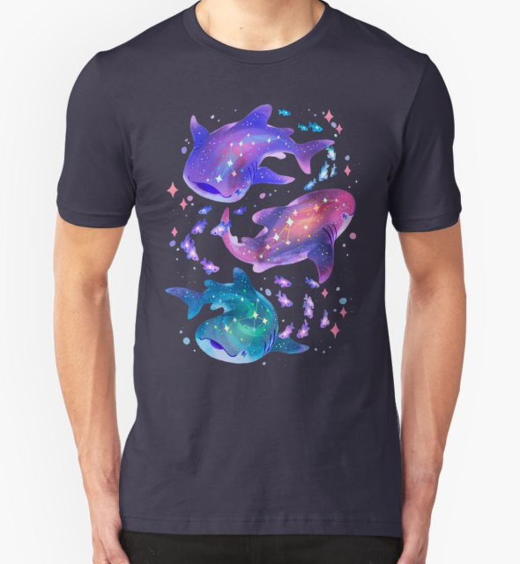 RedBubble: Cosmic Whale Shark