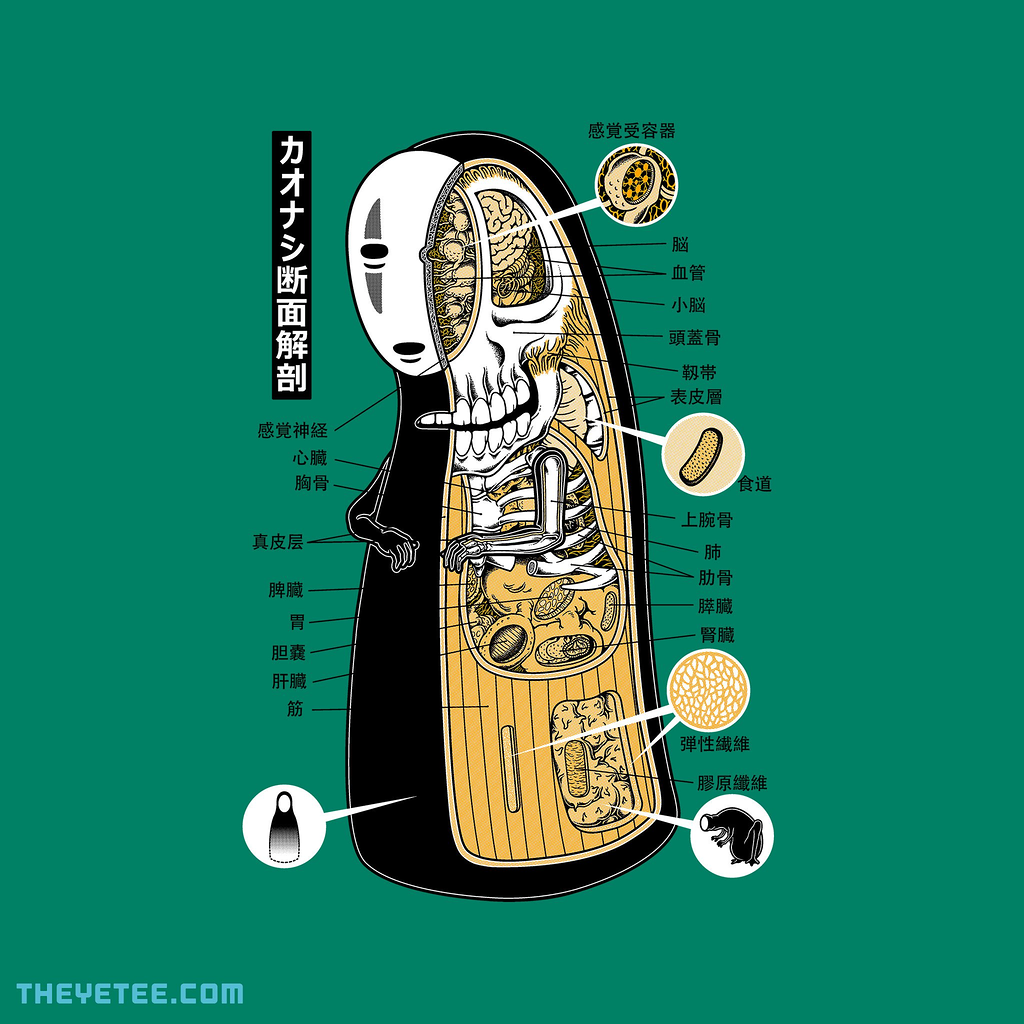 The Yetee: Faceless Spirit Cross-Section Anatomy