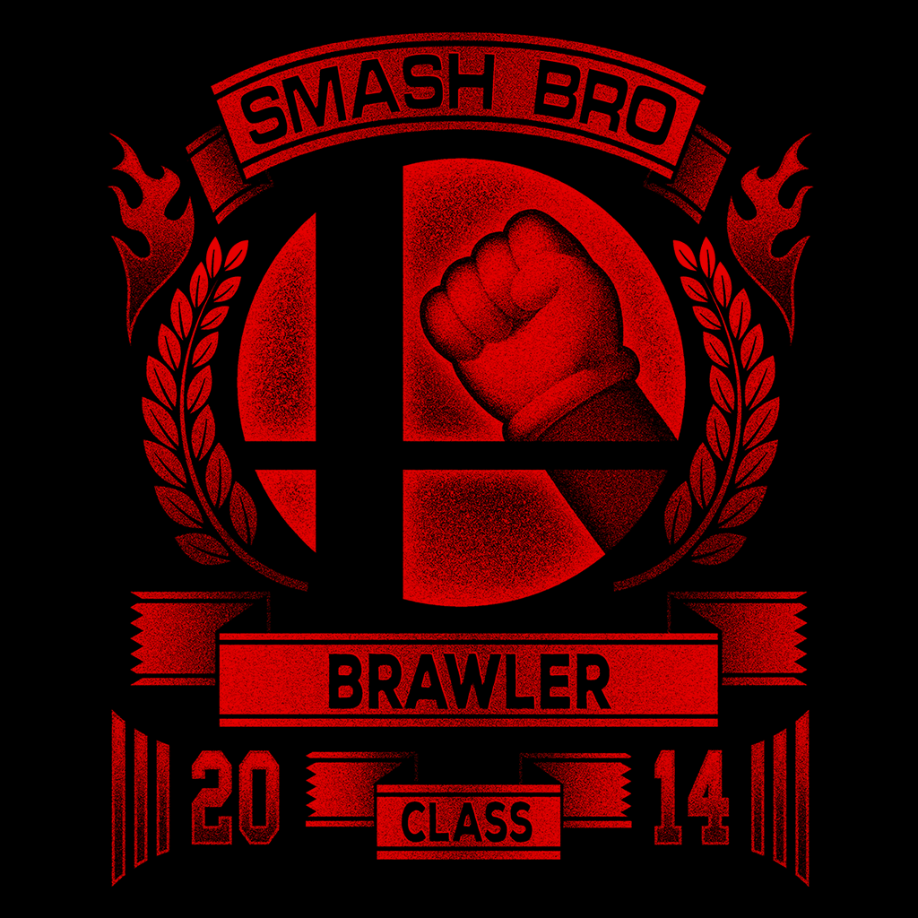 Pop-Up Tee: Smash Bros Brawler