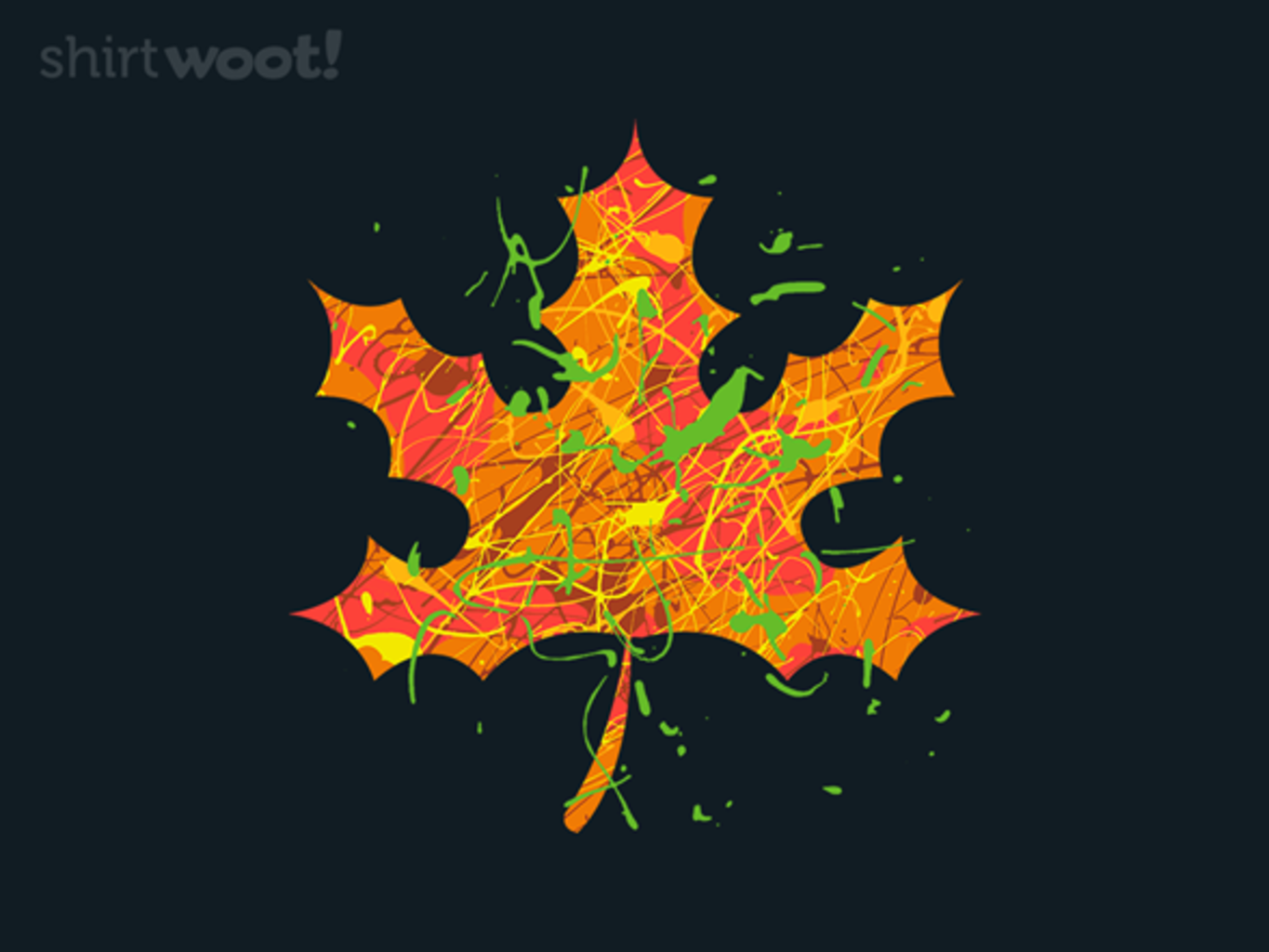 Woot!: Falling Colors Crewneck Sweatshirt - $16.00 + $5 standard shipping