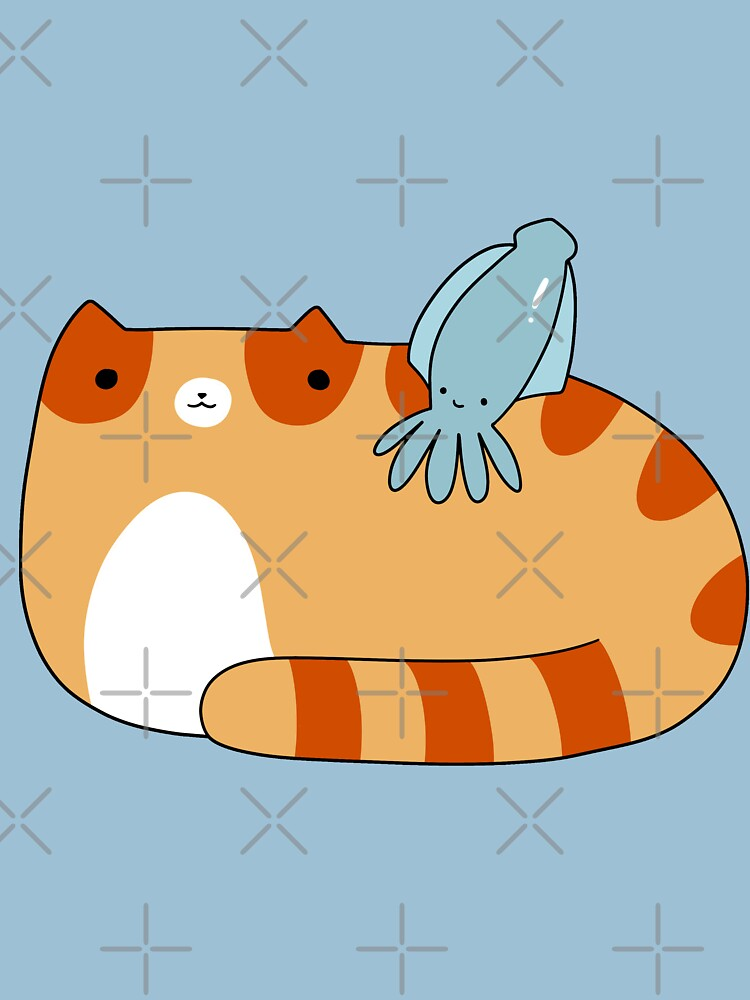 RedBubble: Tabby Cat and Squid